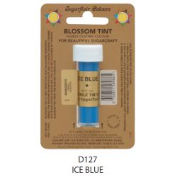 Sugarflair Edible Blossom Tint Dusting Colour -  Ice Blue(7ml)