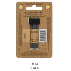 Sugarflair Edible Blossom Tint Dusting Colour -  Black(7ml)