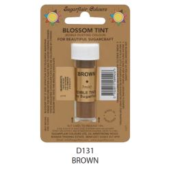 Sugarflair Edible Blossom Tint Dusting Colour -  Brown(7ml)