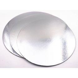 "Cake Card-Silver 8""-10pcs(1mm)"