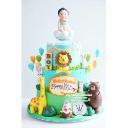 三層動物懸浮蛋糕