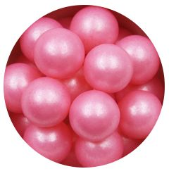Pink 14mm Edible Pearls Dragees 200g