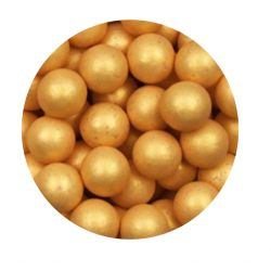 Gold 10mm Edible Pearls Dragees - 120g