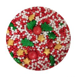 Christmas Tree Mix Edible Pearls Dragees- 120g