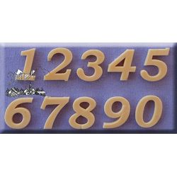 Bookman Old Style Numbers (18mm)  - Alphabet Moulds